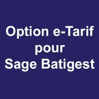 Option e-Tarif pour Sage Batigest